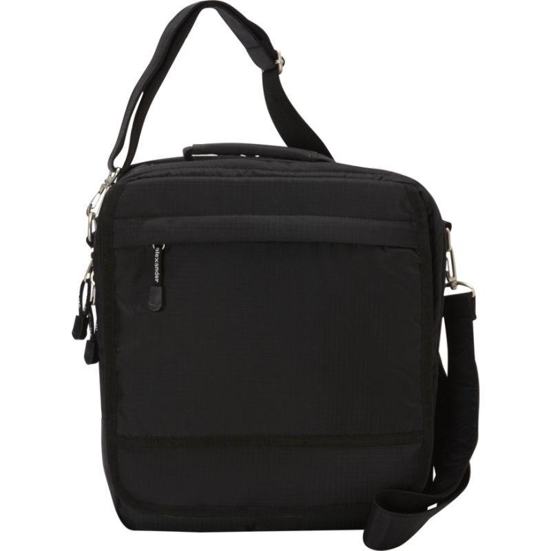 デレクアレクサンダー メンズ スーツケース バッグ Medium N/S Computer Bag Black