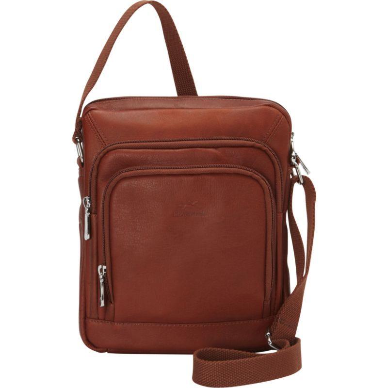 マンシニレザーグッズ メンズ ショルダーバッグ バッグ RFID Tablet Shoulder Bag Cognac