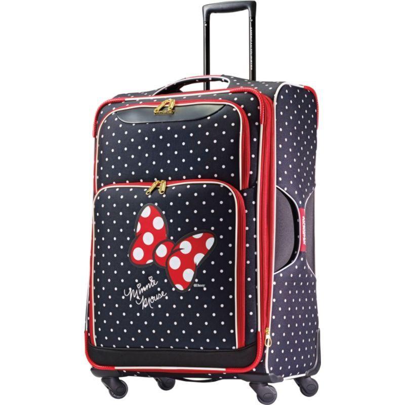 アメリカンツーリスター メンズ スーツケース バッグ Disney Minnie Mouse Softside Spinner 28 Minnie Mouse Red Bow