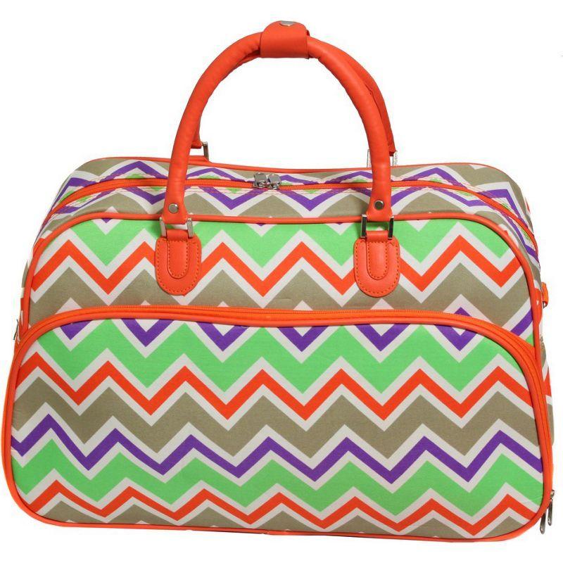 ワールドトラベラー メンズ スーツケース バッグ Chevron Multi 21 Carry-On Duffel Bag Orange Trim Chevron Multi