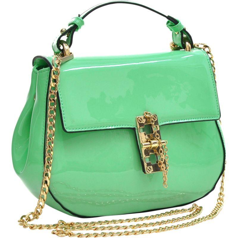 ダセイン メンズ ボディバッグ・ウエストポーチ バッグ Patent Faux Leather Crossbody Mint Green