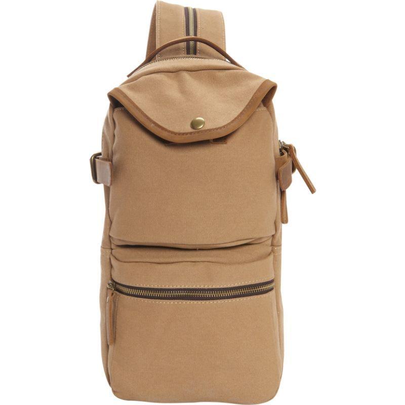 ヴァガボンドトラベラー メンズ バックパック・リュックサック バッグ Slim Long Shape Cotton Canvas Backpack Khaki