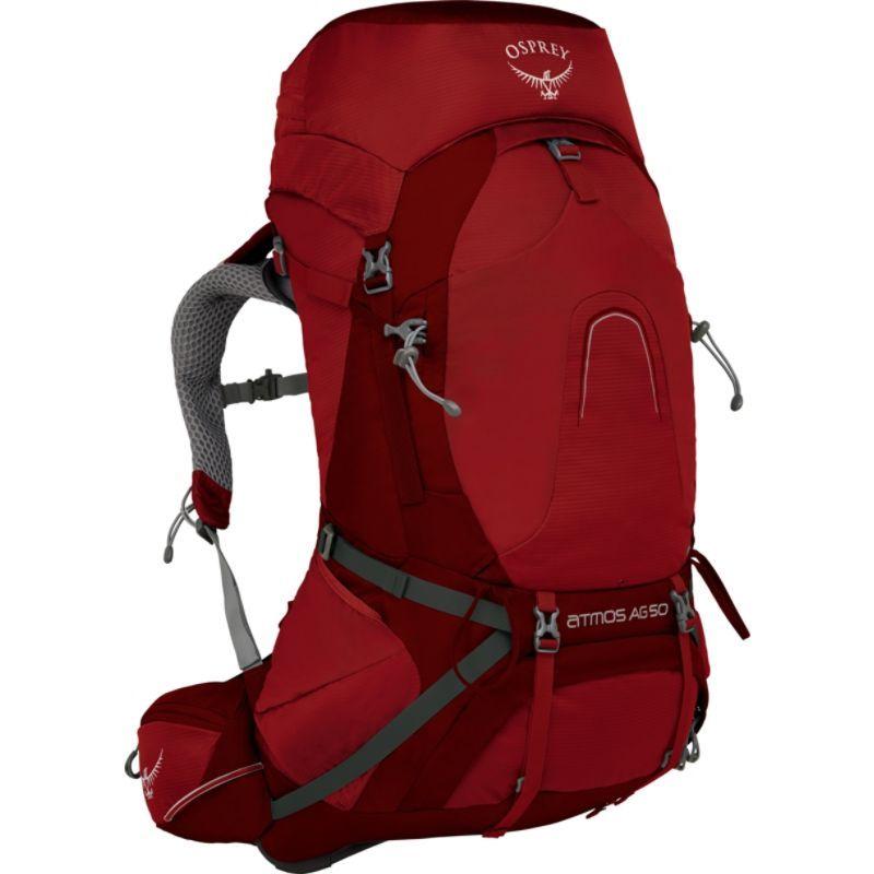 オスプレー メンズ バックパック・リュックサック バッグ Atmos AG 50 Backpack Rigby Red LG