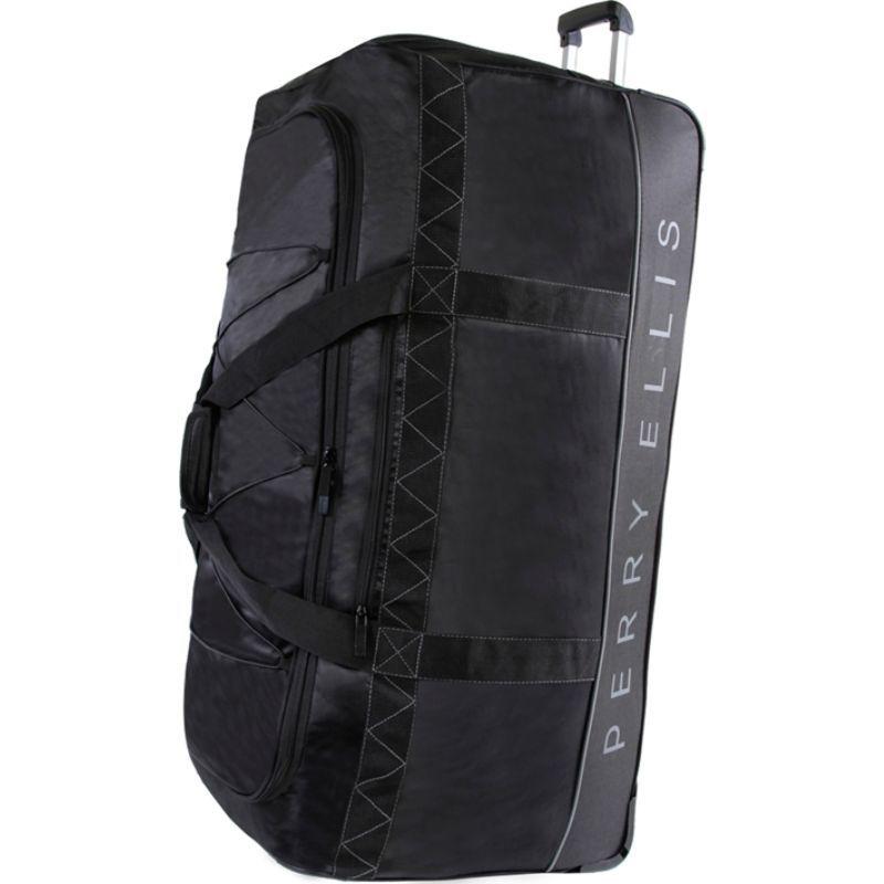 ペリーエリス メンズ スーツケース バッグ Extra Large 35 Rolling Duffel Bag Black/Grey