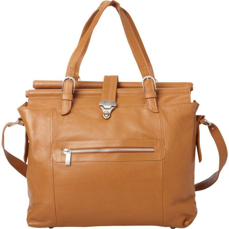 ピエール メンズ スーツケース バッグ Double Dowel Rod Leather Bag Saddle