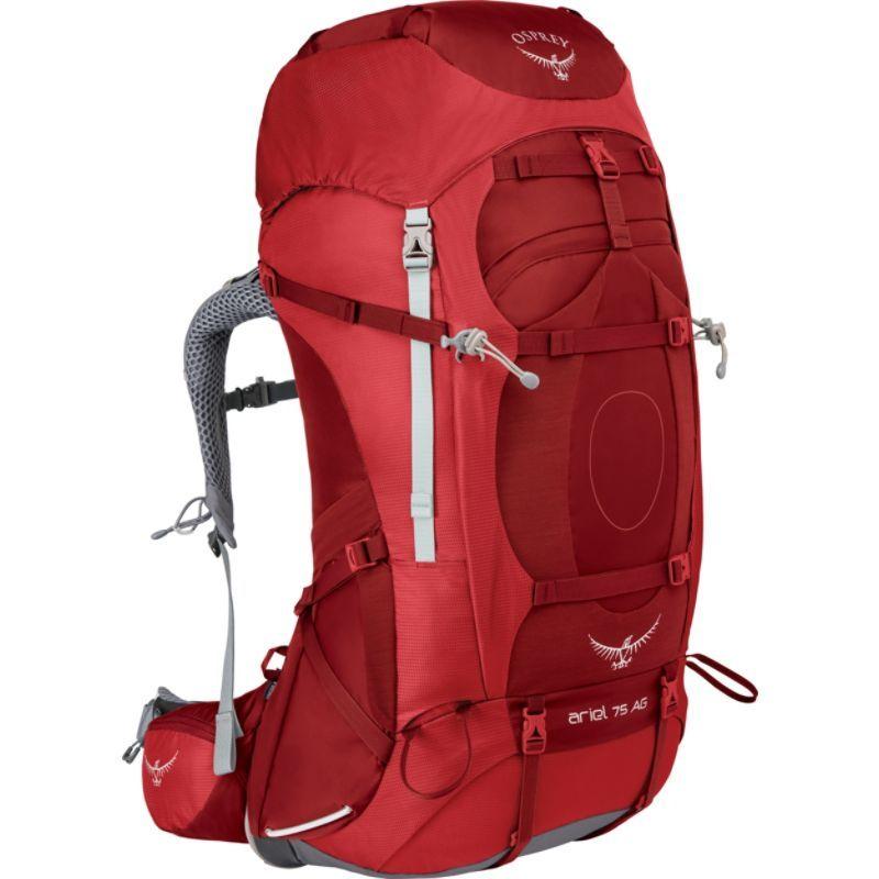 オスプレー レディース バックパック・リュックサック バッグ Womens Ariel AG 75 Hiking Pack Picante Red WXS