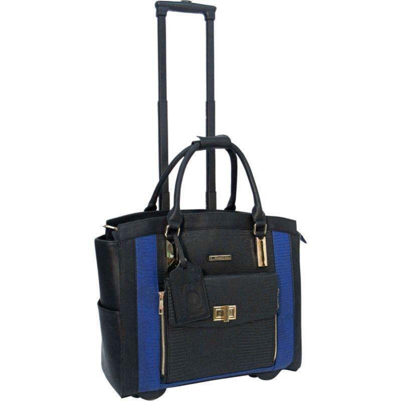 カブレリ メンズ スーツケース バッグ Fashion Executive Rolling Carry-On Brief Black/Royal