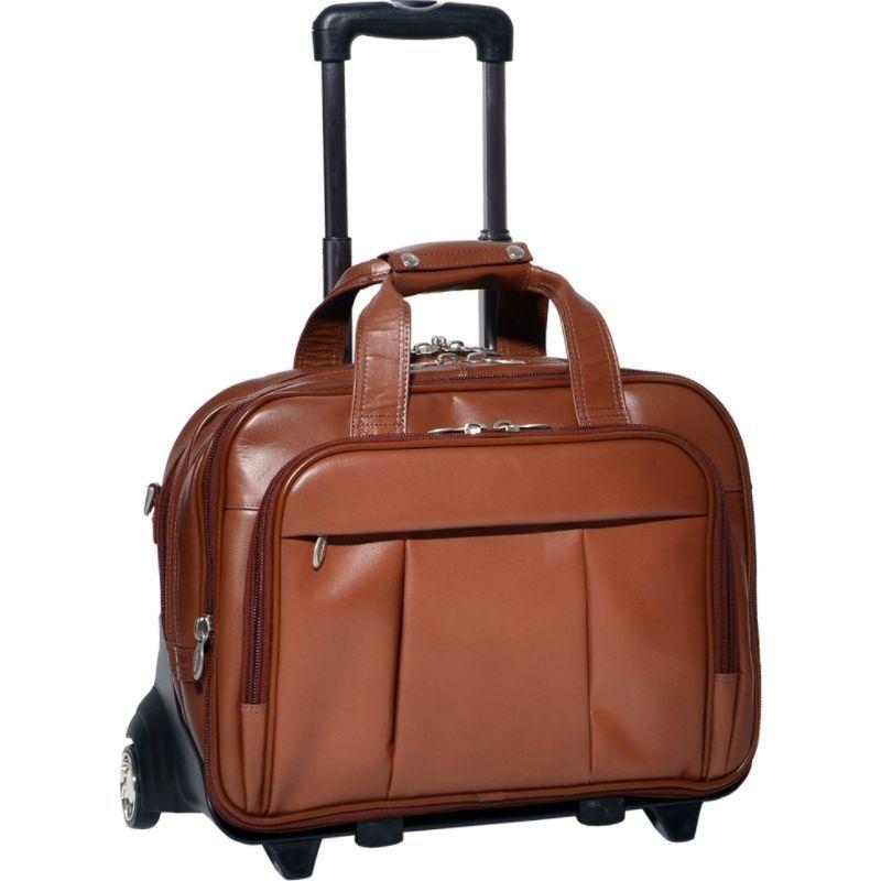 マックレイン メンズ スーツケース バッグ Damen Leather Wheeled 17 Laptop Case Brown