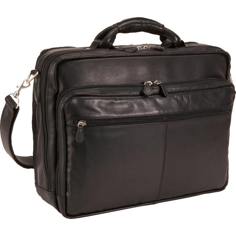 デレクアレクサンダー メンズ スーツケース バッグ Triple Compartment Computer Briefcase Black