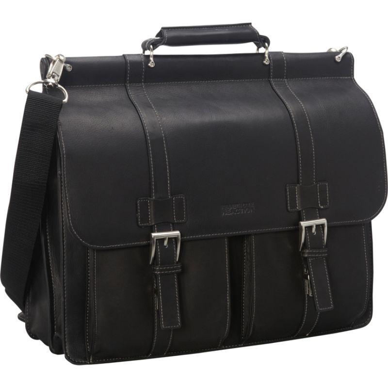 ケネスコール メンズ スーツケース バッグ Mind Your Own Business - Colombian Leather Dowel Rod Laptop Case Black