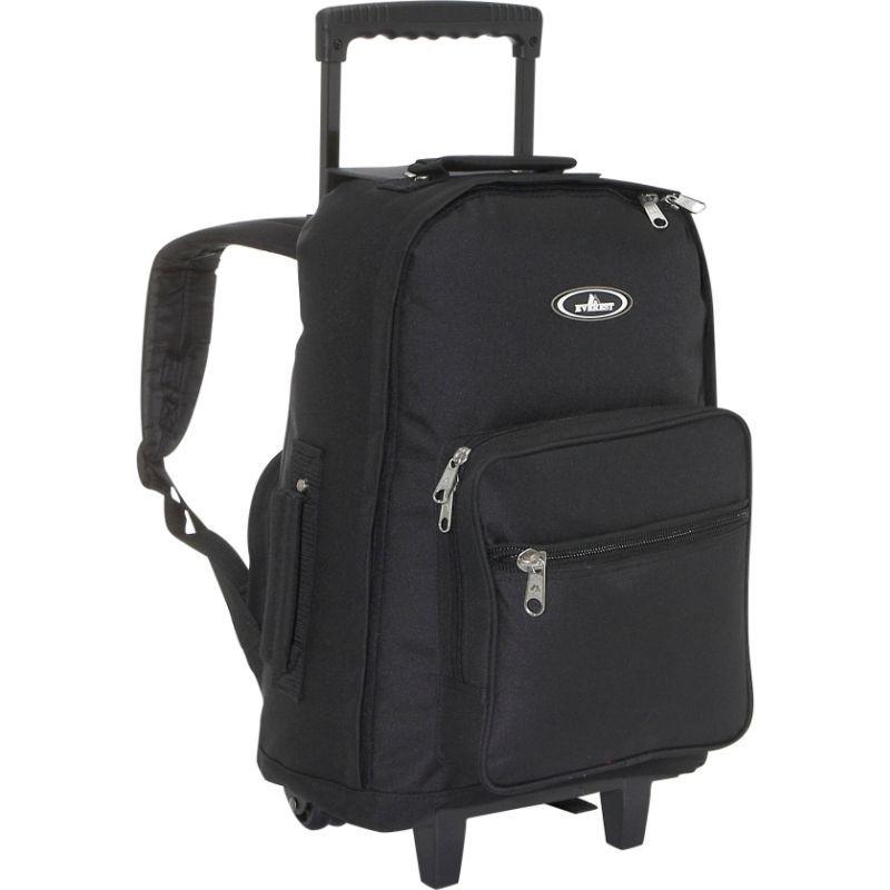 エバーレスト メンズ バックパック・リュックサック バッグ Wheeled Backpack Black