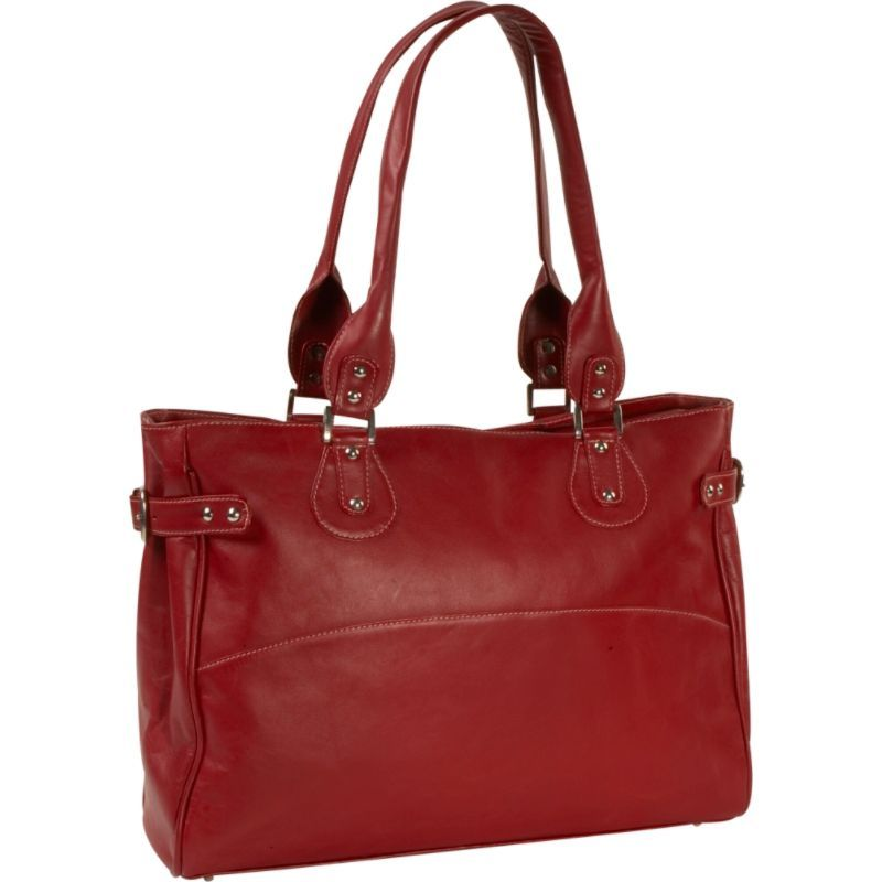 ピエール メンズ スーツケース バッグ Ladies Large Side Strap Laptop Tote Redb6Yf7gy