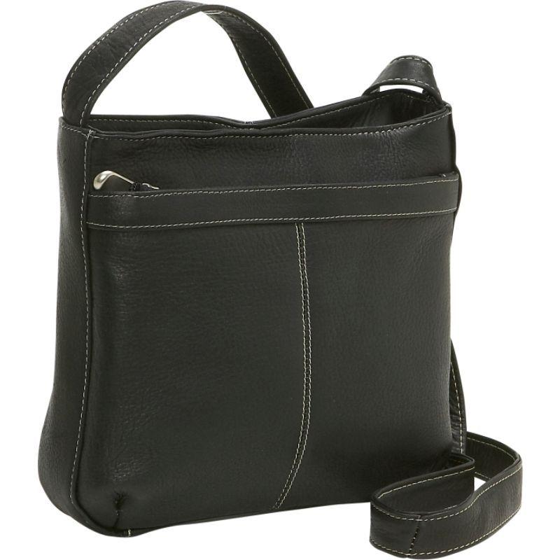 ルドネレザー メンズ ボディバッグ・ウエストポーチ バッグ Shoulder Bag w/Exterior Zip Pocket Black