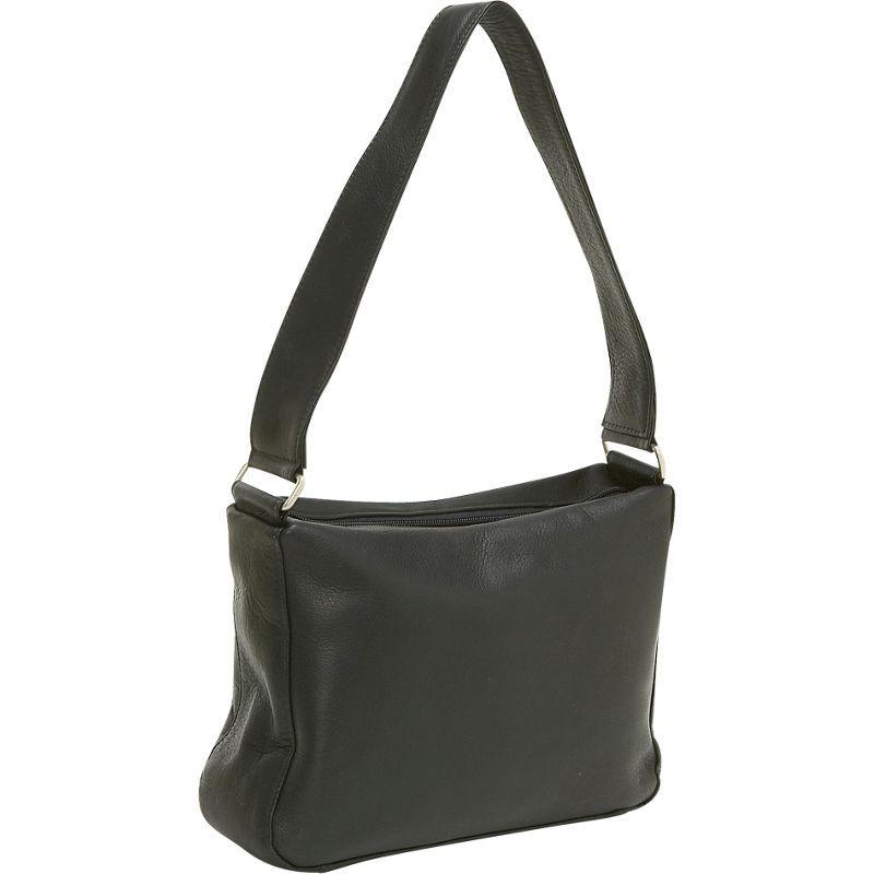 ルドネレザー メンズ ショルダーバッグ バッグ Top Zip Shoulder Bag Black