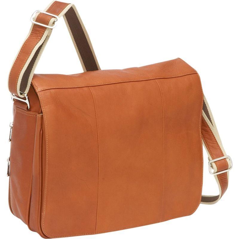 ピエール メンズ スーツケース バッグ Expandable Laptop Messenger Bag Saddle