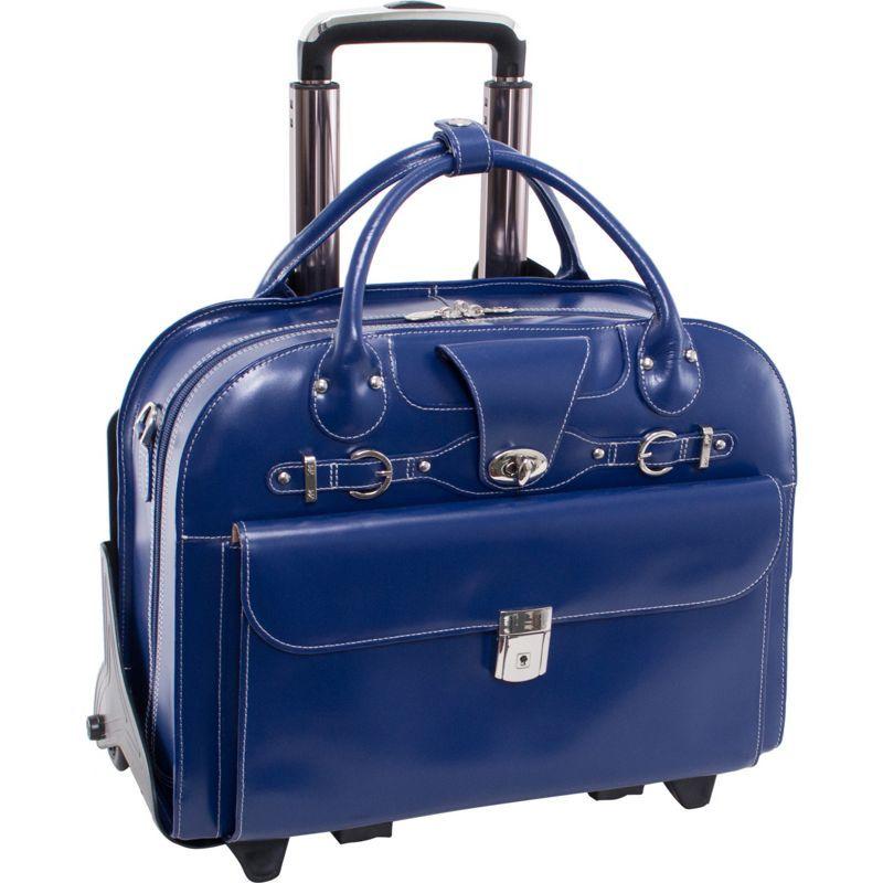 マックレイン メンズ スーツケース バッグ Roseville 15 Fly-Through Checkpoint-Friendly Removable Rolling Ladies' Laptop Case Navy