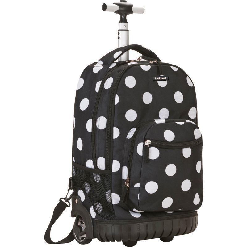 ロックランド メンズ バックパック・リュックサック バッグ Sedan 19 Rolling Backpack Black Dot