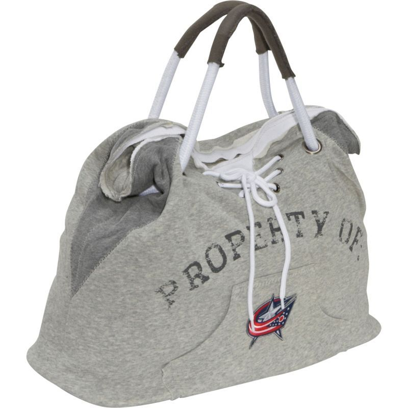 リトルアース メンズ トートバッグ バッグ NHL Hoodie Tote Grey/Columbus Blue Jackets Columbus Blue Jackets