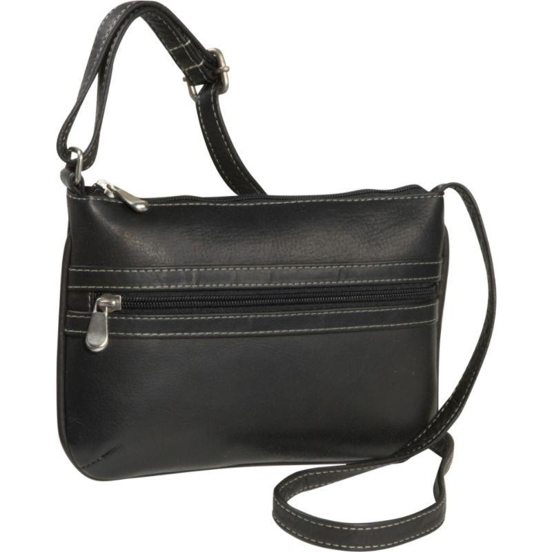 ルドネレザー メンズ ボディバッグ・ウエストポーチ バッグ City Crossbody Bag Black