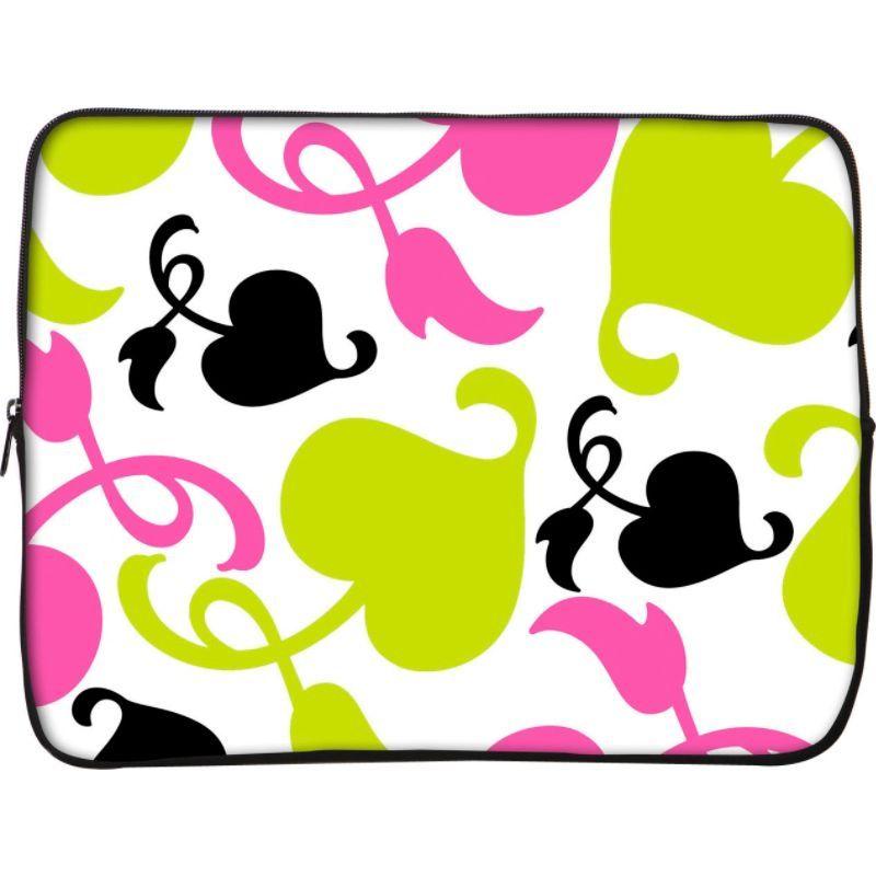 デザイナースリーブス メンズ スーツケース バッグ 15 Laptop Sleeve by Got Skins? & Designer Sleeves Spring Pink and Lime