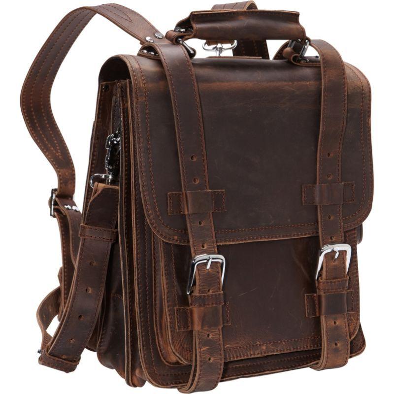 ヴァガボンドトラベラー メンズ スーツケース バッグ Leather Travel Backpack Brief Vintage Distress