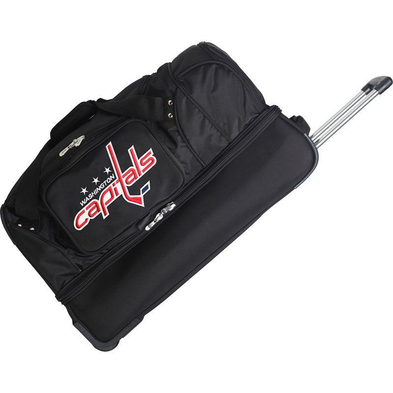 デンコスポーツ メンズ スーツケース バッグ NHL 27 Drop Bottom Wheeled Duffel Bag Washington Capitals