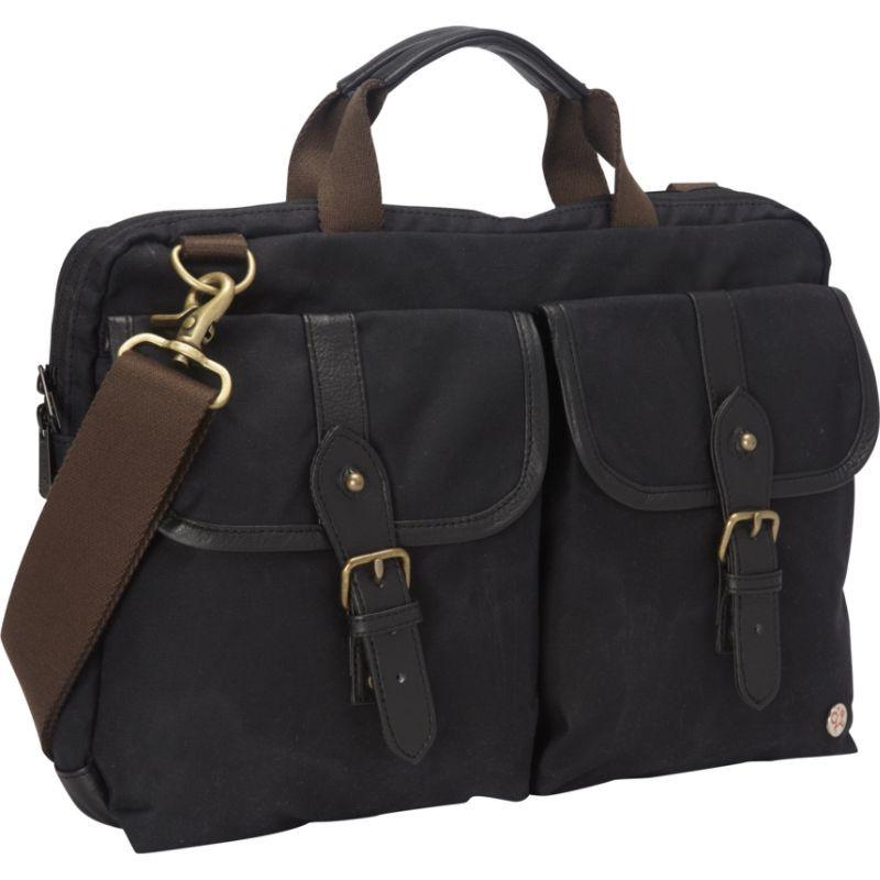 トーケン メンズ スーツケース バッグ Waxed Knickerbocker Laptop Bag (13) Black/Black