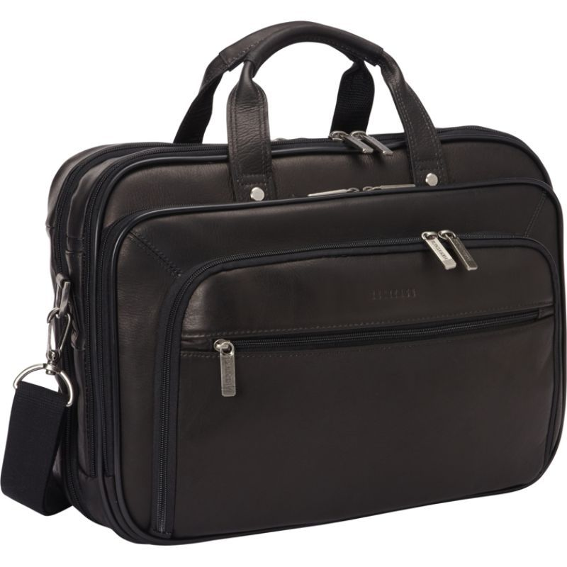 ヘリテージ メンズ スーツケース バッグ Colombian Leather Checkpoint-Friendly Briefcase Black
