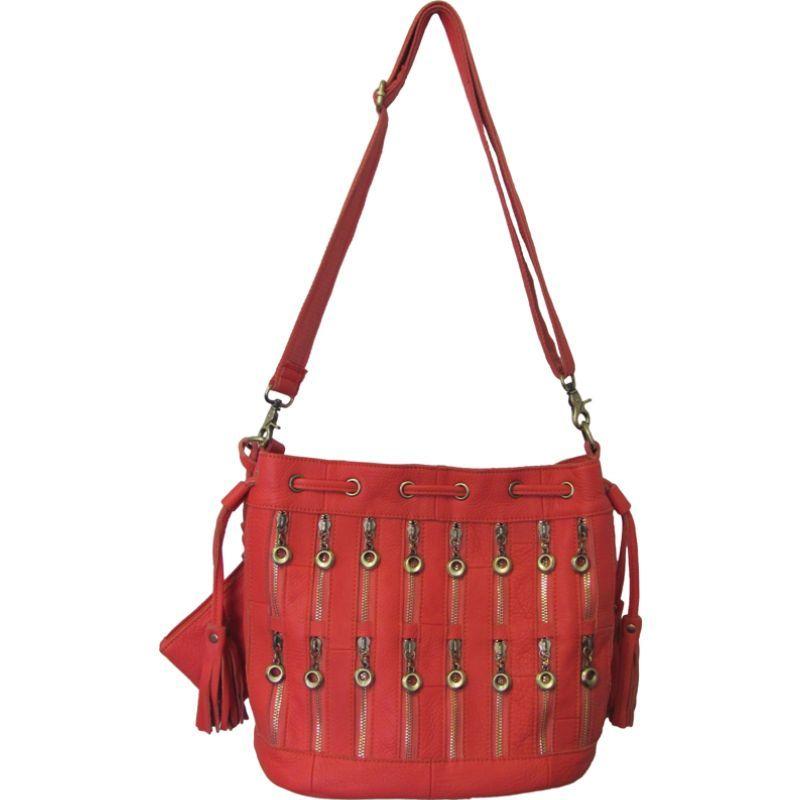 アメリ メンズ ショルダーバッグ バッグ Zippety Leather Shoulder Bag Orange