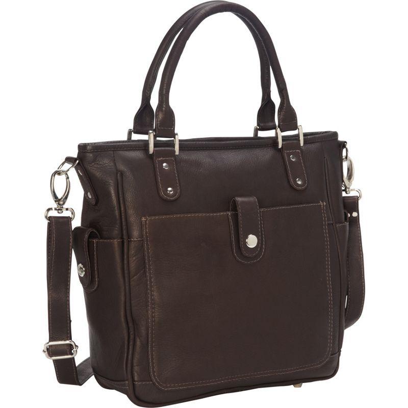 ピエール メンズ トートバッグ バッグ Tablet Shoulder Bag/Cross Body Chocolate