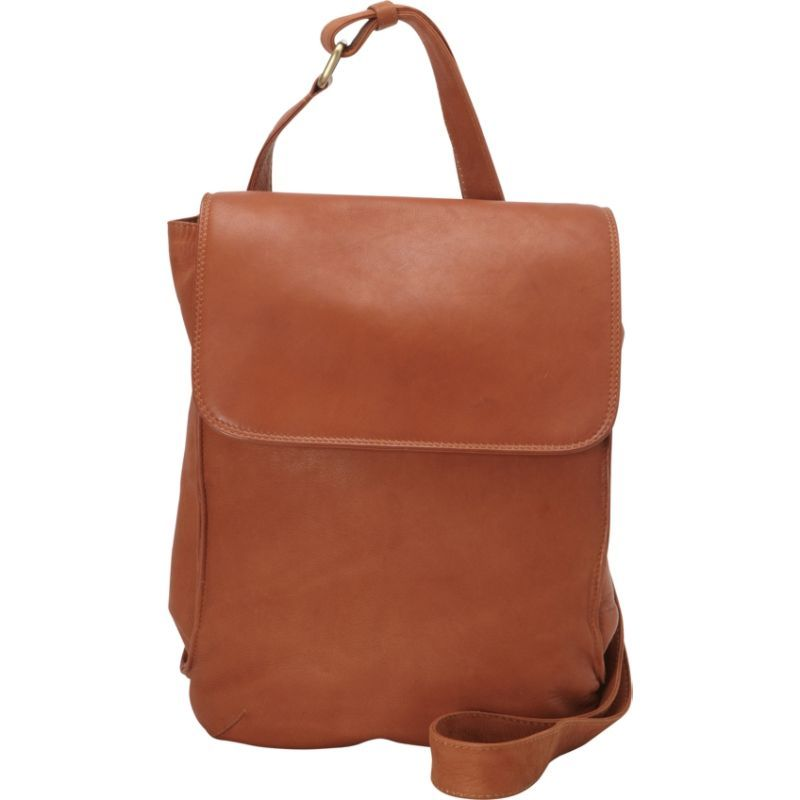 デレクアレクサンダー メンズ ショルダーバッグ バッグ N/S Half Flap Shoulder Bag Tan