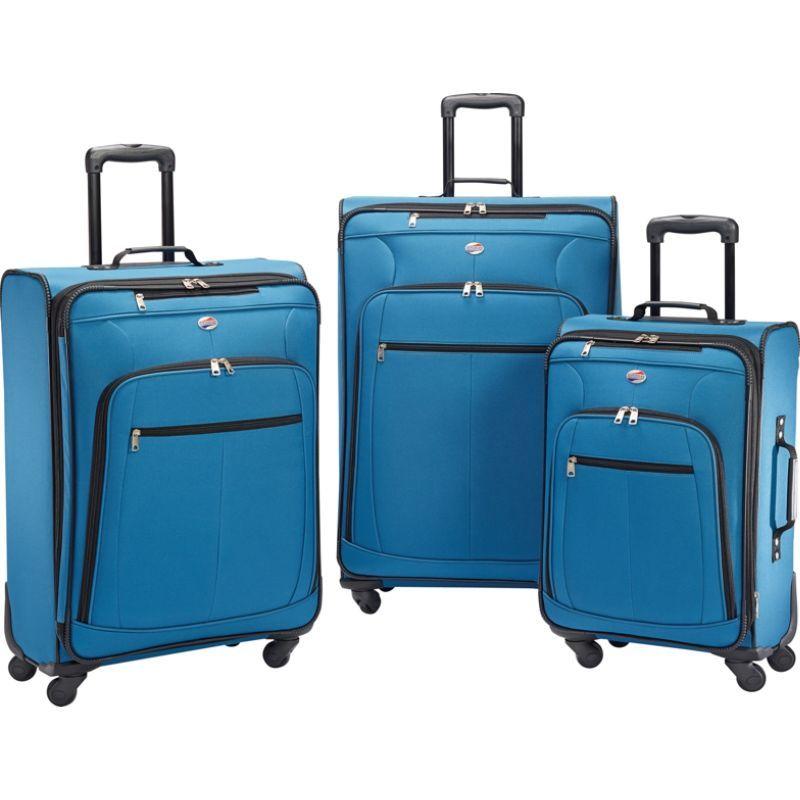 アメリカンツーリスター メンズ スーツケース バッグ Pop Plus 3pc Spinner Set Moroccan Blue