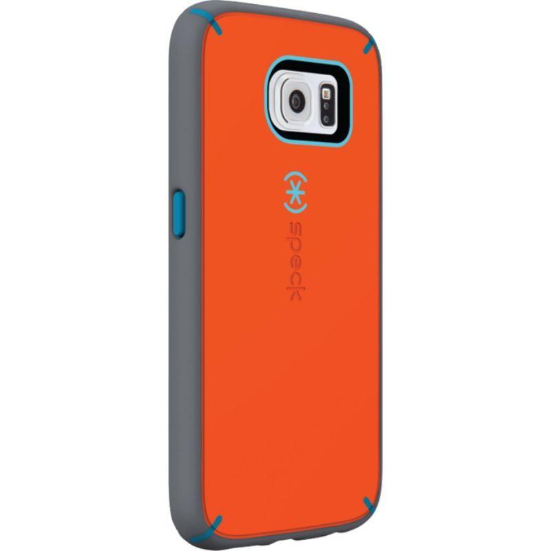 スペック メンズ PC・モバイルギア アクセサリー Samsung Galaxy S6 Mightyshell + Faceplate Carrot Orange/Speck Blue/Slate Gray