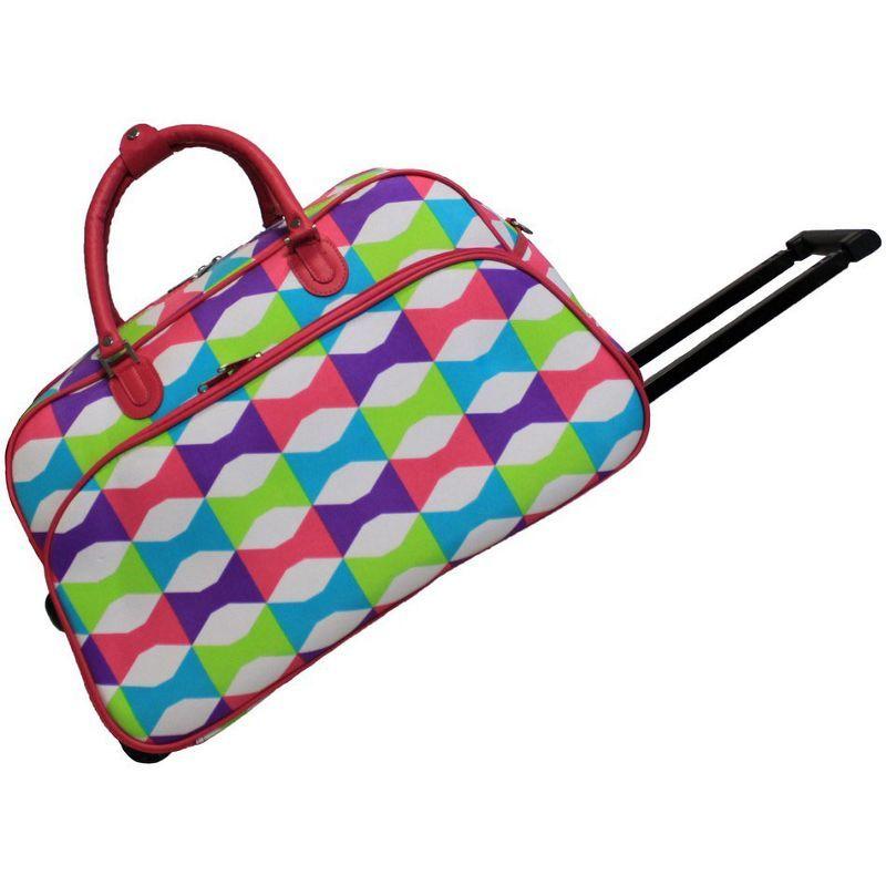 ワールドトラベラー メンズ スーツケース バッグ Blissful 21 Rolling Duffel Bag Pink Trim Blissful