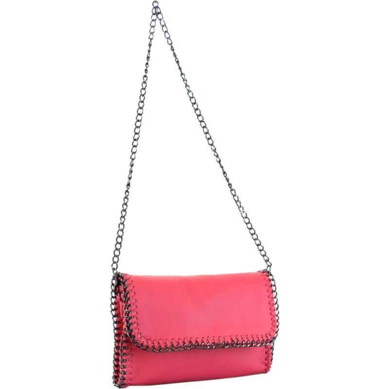 アールアンドアール メンズ ショルダーバッグ バッグ Genuine Leather Shoulder bag Pink