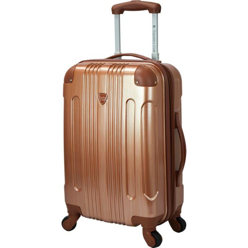 トラベラーズクラブ メンズ スーツケース バッグ Polaris 20 Metallic Hardside Expandable Carry-On Spinner Copper