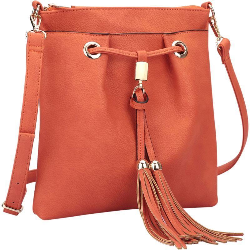 ダセイン メンズ ボディバッグ・ウエストポーチ バッグ Crossbody bag with fringe details Orange