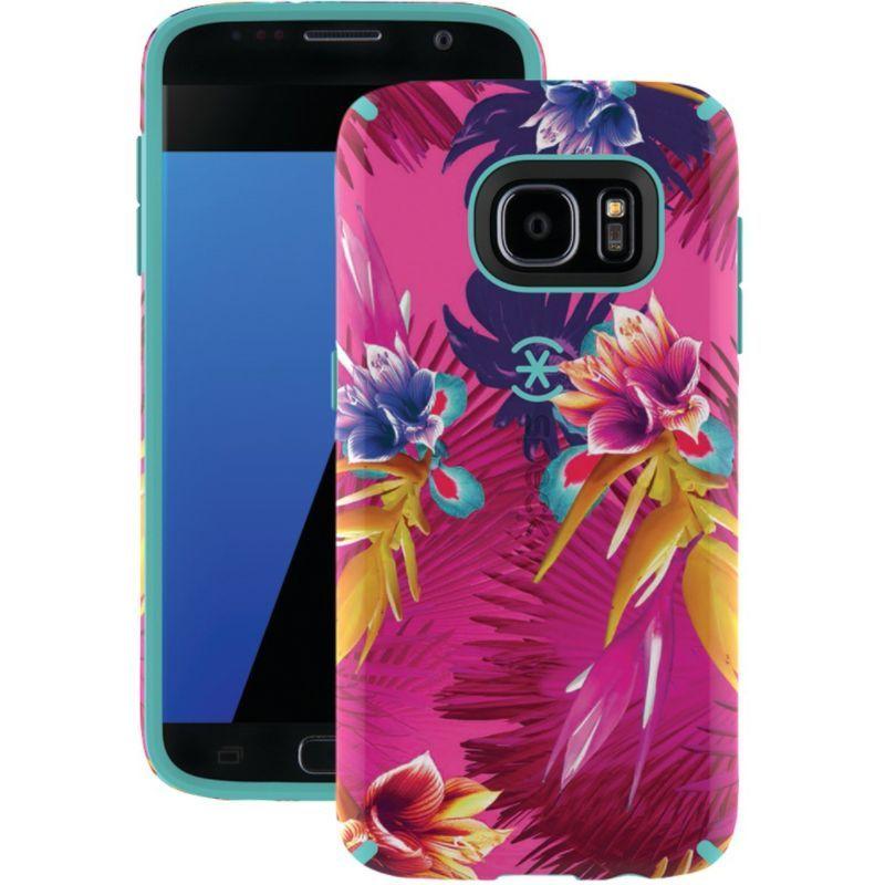 スペック メンズ PC・モバイルギア アクセサリー Samsung Galaxy S 7 Candyshell Inked Case Wild Tropic Fushsia / Mykonos Blue
