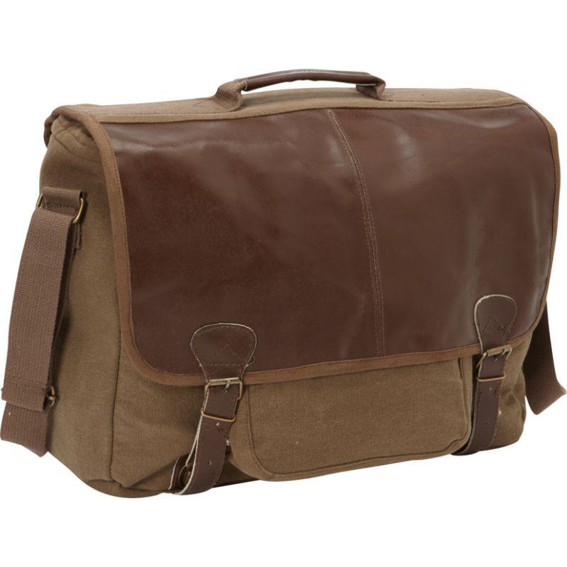 フォックスアウトドア メンズ スーツケース バッグ Graduate Satchel Briefcase Olive Brown