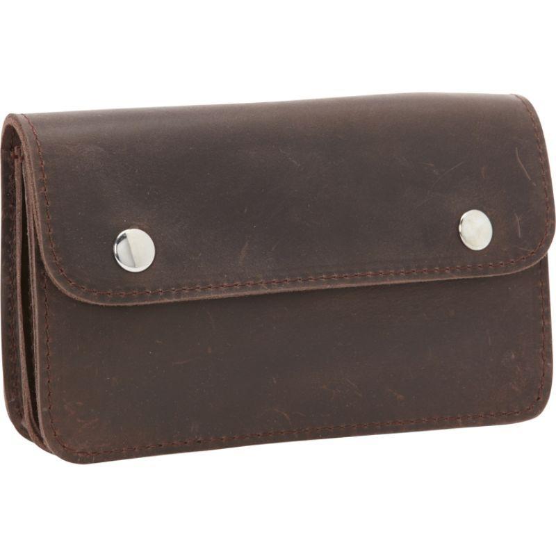 ヴァガボンドトラベラー メンズ PC・モバイルギア アクセサリー Cowhide Leather Slim Waist Pack Phone Holder Dark Brown