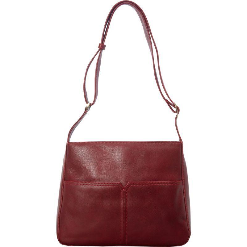 デレクアレクサンダー メンズ ショルダーバッグ バッグ Large Top Zip Shoulder Bag Red