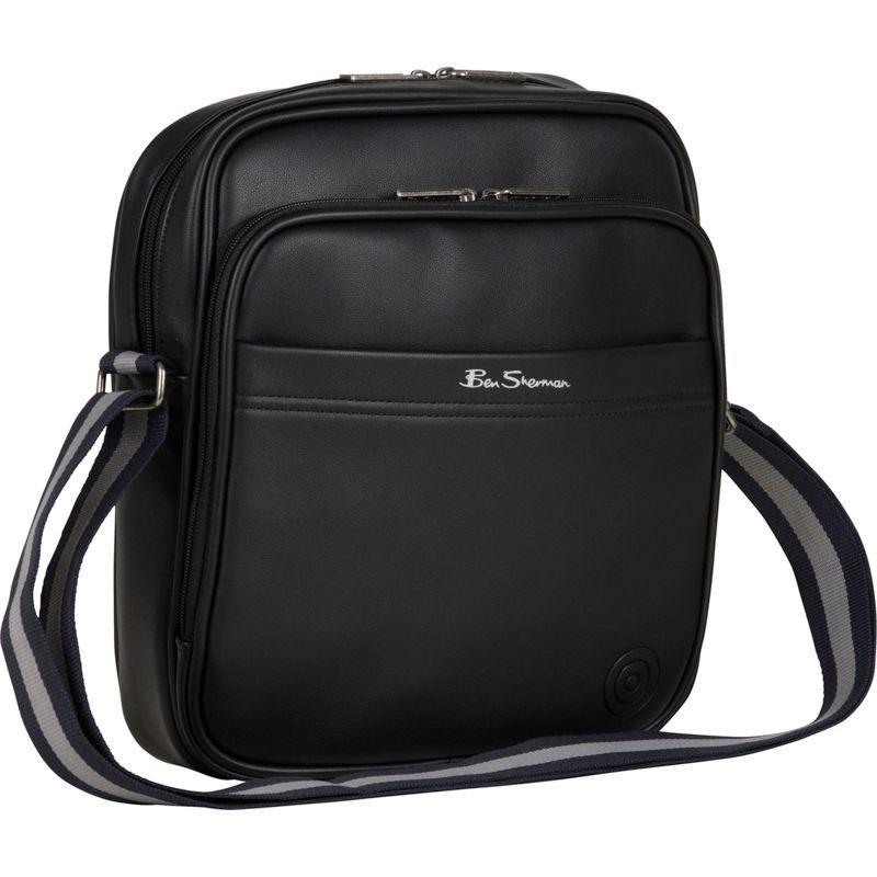 ベンシャーマン メンズ ショルダーバッグ バッグ Bowen Road Single Compartment Top Zip Casual Crossbody / Tablet Bag Black
