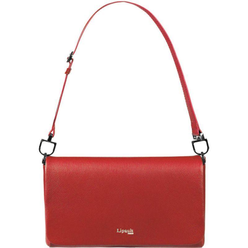 リパルトパリ メンズ ショルダーバッグ バッグ Plume Elegance Medium Leather Clutch Bag Ruby