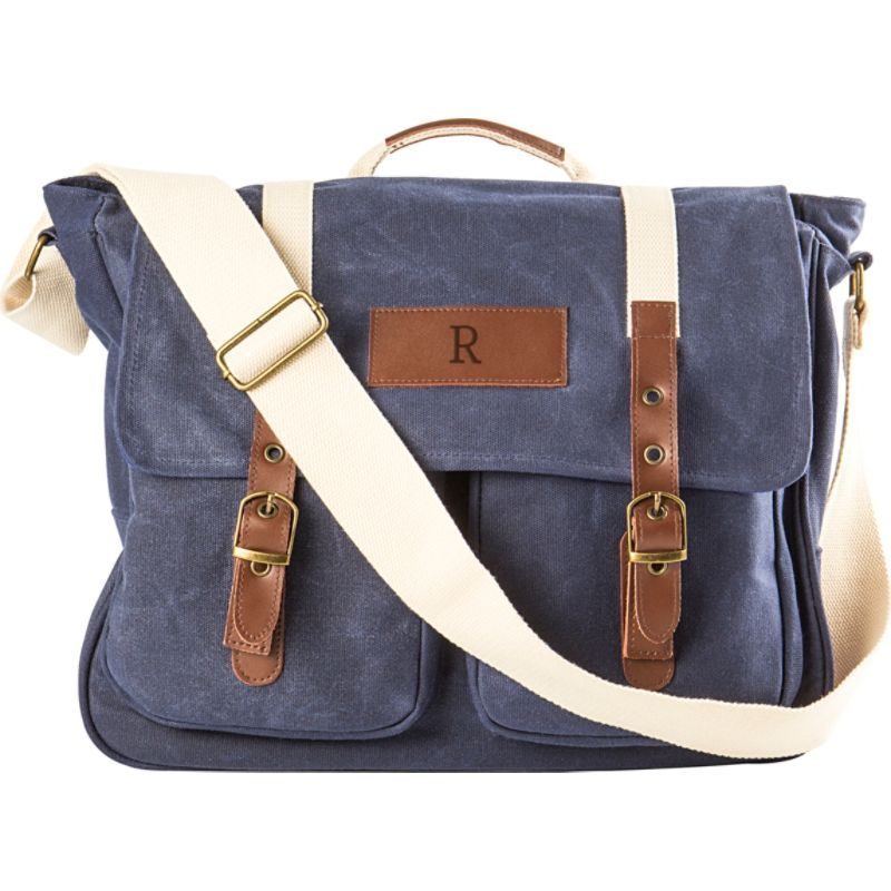 キャシーズ コンセプツ メンズ ショルダーバッグ バッグ Personalized Messenger Bag Blue - R