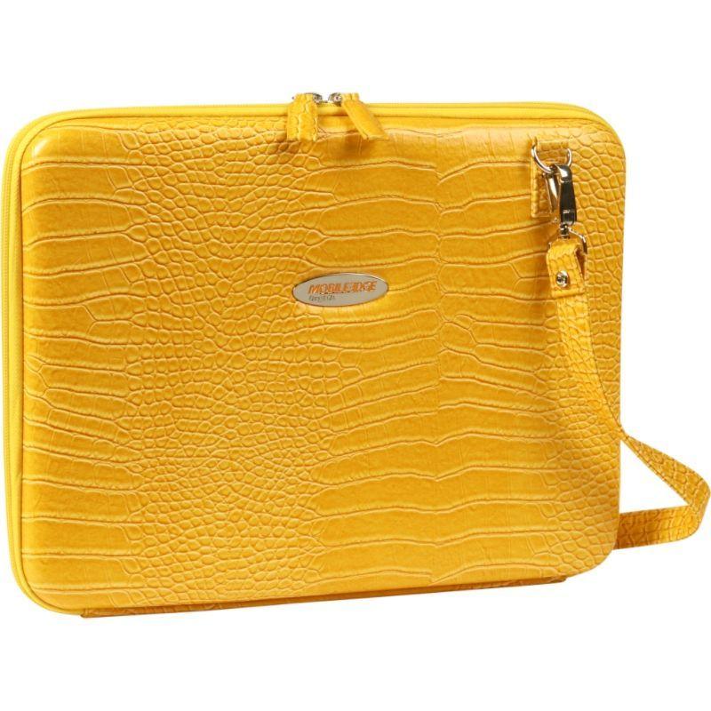 モバイルエッジ メンズ スーツケース バッグ Faux Croc Portfolio - 14.1PC / 15 MacBook Pro Yellow