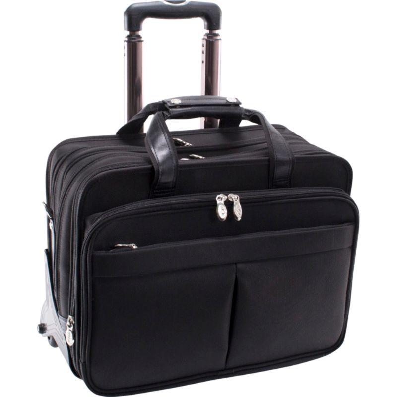 マックレイン メンズ スーツケース バッグ Roosevelt Nylon Detachable Wheeled 17 Laptop Case Black