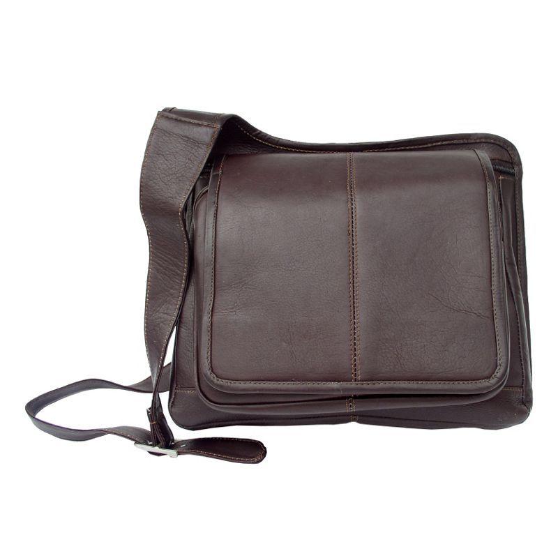 ピエール メンズ ショルダーバッグ バッグ Slim-Line Flap Over Lady's Bag Chocolate