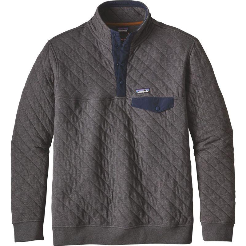 パタゴニア メンズ ニット・セーター アウター Mens Cotton Quilt Snap-T Pullover XXS - Forge Grey