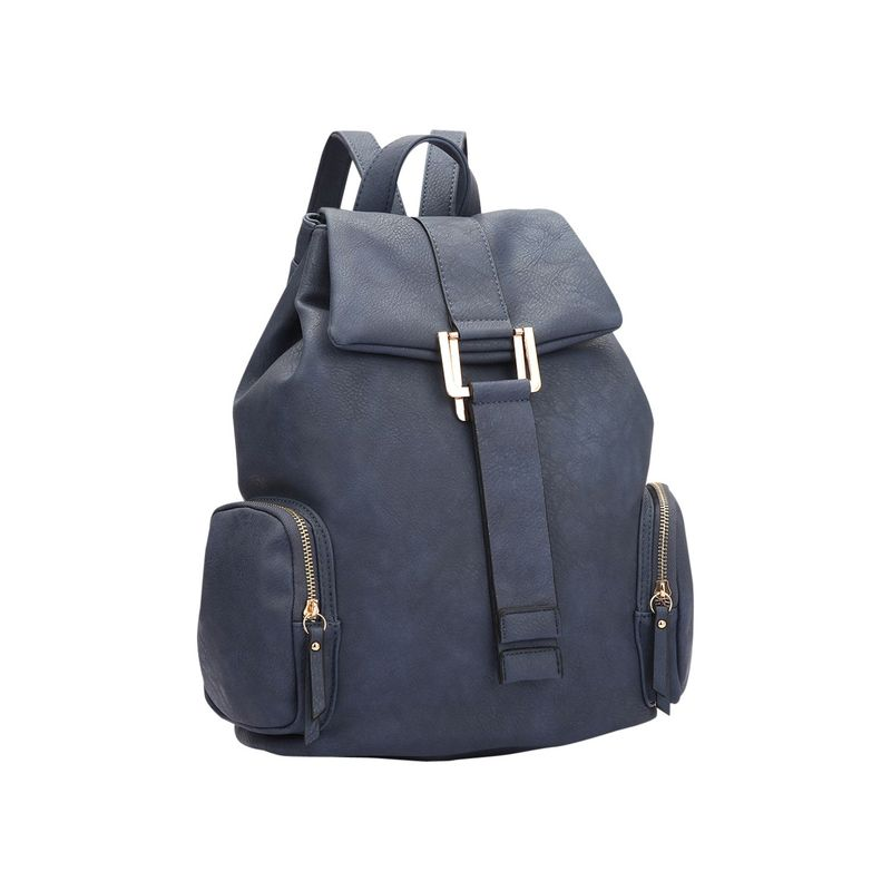 ダセイン メンズ ハンドバッグ バッグ Drawstring Accent Backpack with Side Pockets Navy Blue