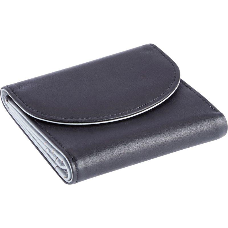 ロイスレザー メンズ 財布 アクセサリー RFID Blocking Leather Trifold Wallet Black